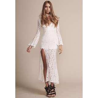 Lioness Boulevards Lace Maxi Dress XS