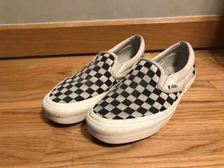 Vans OG classic LX checkerboard canvas slip-on