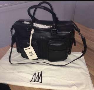 Status Anxiety Bandits & Breakaways leather baby bag