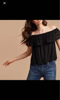 Wilfred Hollande Blouse- Off the Shoulder Top