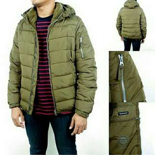 Pull and Bear Quilted Down Puffer Jacket Original