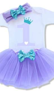 Tutu 3 pcs set Dress for 1st bday party🎉