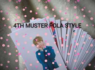 BTS 4TH MUSTER POLA STYLE (ready stock)