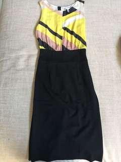 Mango Sleeveless Dress with Yellow Printed Top