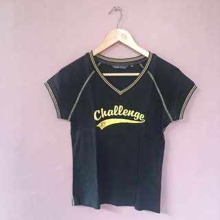 Challenge Yellow Black Tee