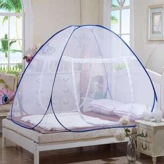 Kelambu praktis anti nyamuk tanpa tali