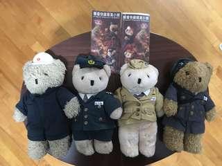 絕版地鐵機場快綫開幕紀念工仔Teddy Bear 連紀念車票