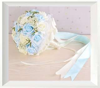 Fake bouquet (baby blue)