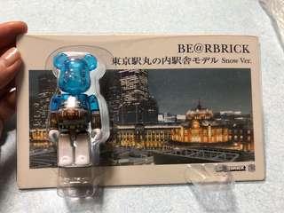 《現貨》東京駅丸之內駅舍model snow ver. Bearbrick 100%
