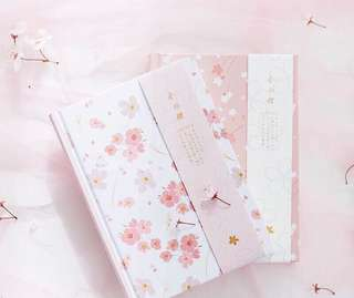 Japanese Sakura & Bamboo Colour Printed Planner Notebook