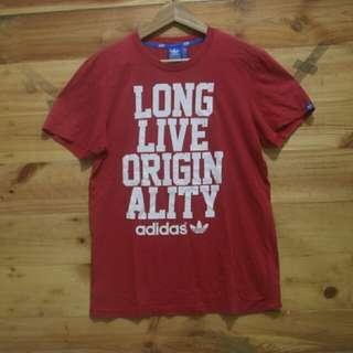 Adidas originals slogan tee Red