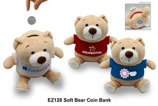 Wholesale Soft Bear Coin Bank