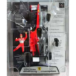 "HOT WHEELS RACING MICHAEL SCHUMACHER ""ANATOMY OF A CHAMPION"" FERRARI 248 F1 1/18 LIMITED EDITION"