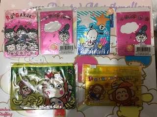 Sanrio RuGaKuen/PC / Monkichi 八達通套/散子包
