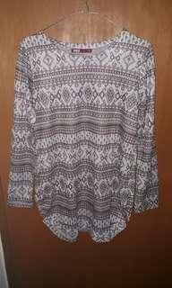 White Tribal Sweater/Sweatshirt