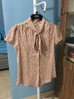 Peach pattern blouse