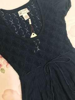🚚 M.J.J.P 深藍色小洋裝