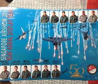 RSAF Aerial Display Team Signed Poster