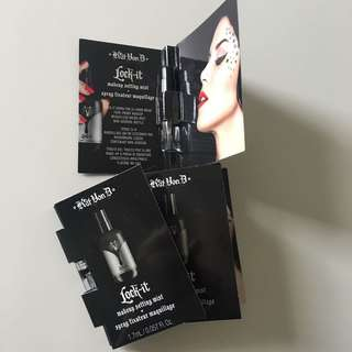 $3 for 5 kat von d setting spray sample size
