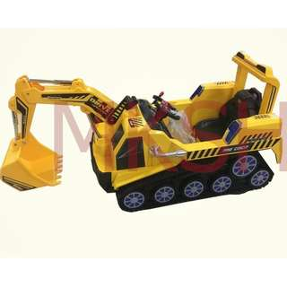 Big Drive Pro Circuit Excavator Backhoe Crane Electric Toy Car For Kids