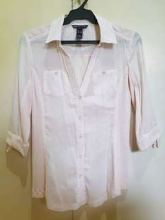Light pink polo for women