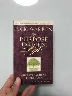 Rick warren purpose driven life Christian book