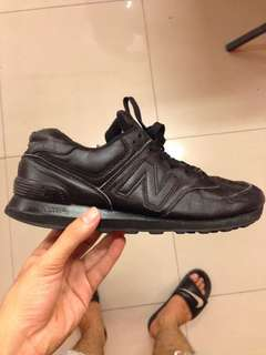 New balance leather all black
