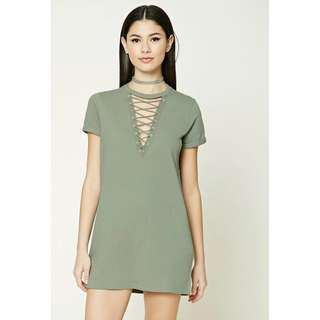 Crisscross Lace-Up Dress F21