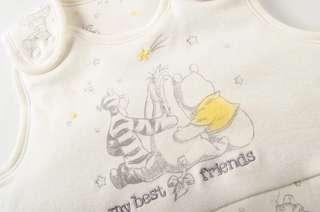 Disney Winnie the pooh 小熊維尼 BB 嬰兒防踢背心被 睡袋 米色 純棉 全新