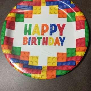 LEGO theme party plates - 18pcs
