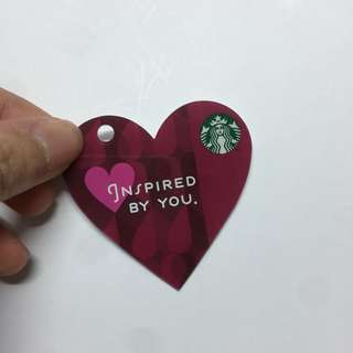 Starbucks card hear shape