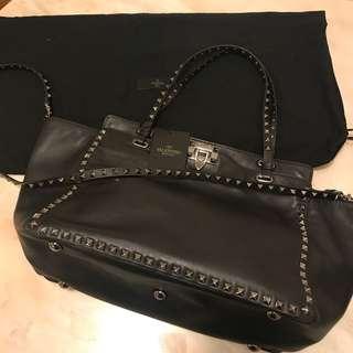 Valentino黑色手袋
