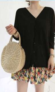 *INSTOCK* Summer Must-have Rattan Beige Woven Straw 2 way handle Sling bag