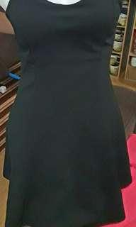 Elegant black tube mini dress
