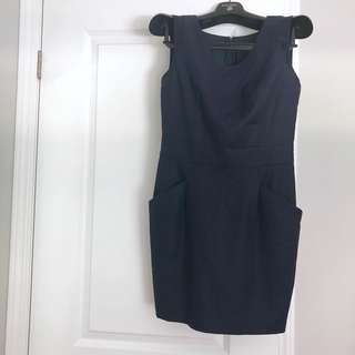 Navy mini semi formal dress