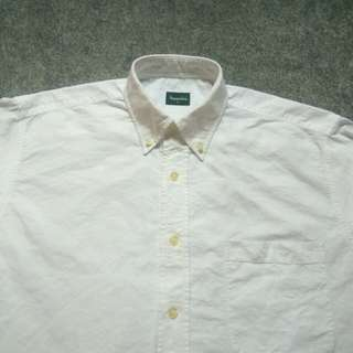 BOSSINI White Oxford Shirt Long Sleeve Size L