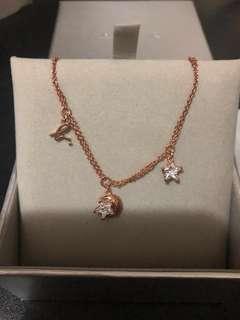 Agnes b 玫瑰金色星星月亮水晶手錬 Agnes b bracelet
