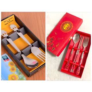Cutlery Spoon + Fork + Chopsticks / Teaspoon + Fork