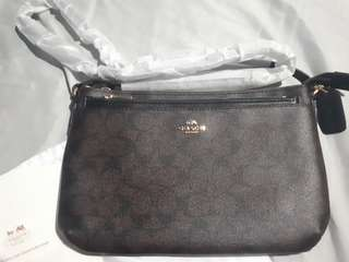 Orig Coach brown sling bag