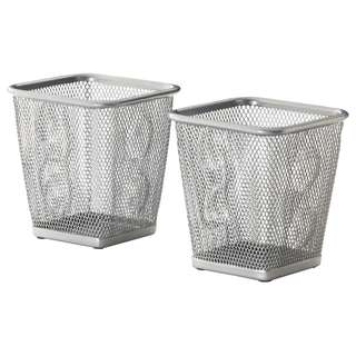IKEA DOKUMENT Pen cup, silver-colour 2pcs