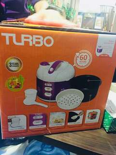 Rice cooker turbo 1,8ltr NEW