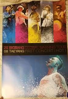 BIGBANG Global Warning Concert dvd + Poster 62cm x 93cm