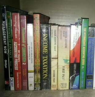 Books! (Accounting, Law, Finance)