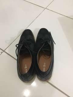 WINSTON SMITH - black josephine oxford shoes