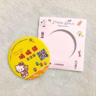 Hello Kitty 7cm Round Hand Mirrors