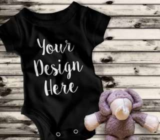 Make Your Own Design Customise Personalise Baby Romper Onesie