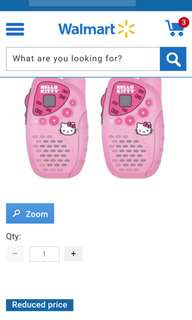 Hello kitty 2 piece walkie talkie