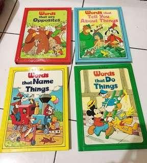 4pcs DISNEY ORI. Learning books