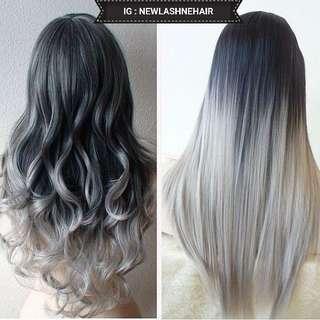 Hairclip ombre grey