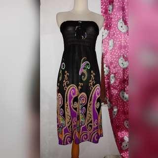 Dress pantai motif (barter 50)